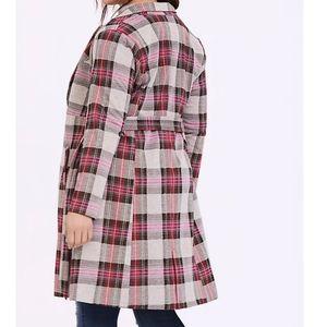 🌺NWT Torrid plaid longline blazer coat 2X